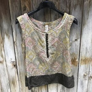 Anthropologie Floreat Embroidered Blouse